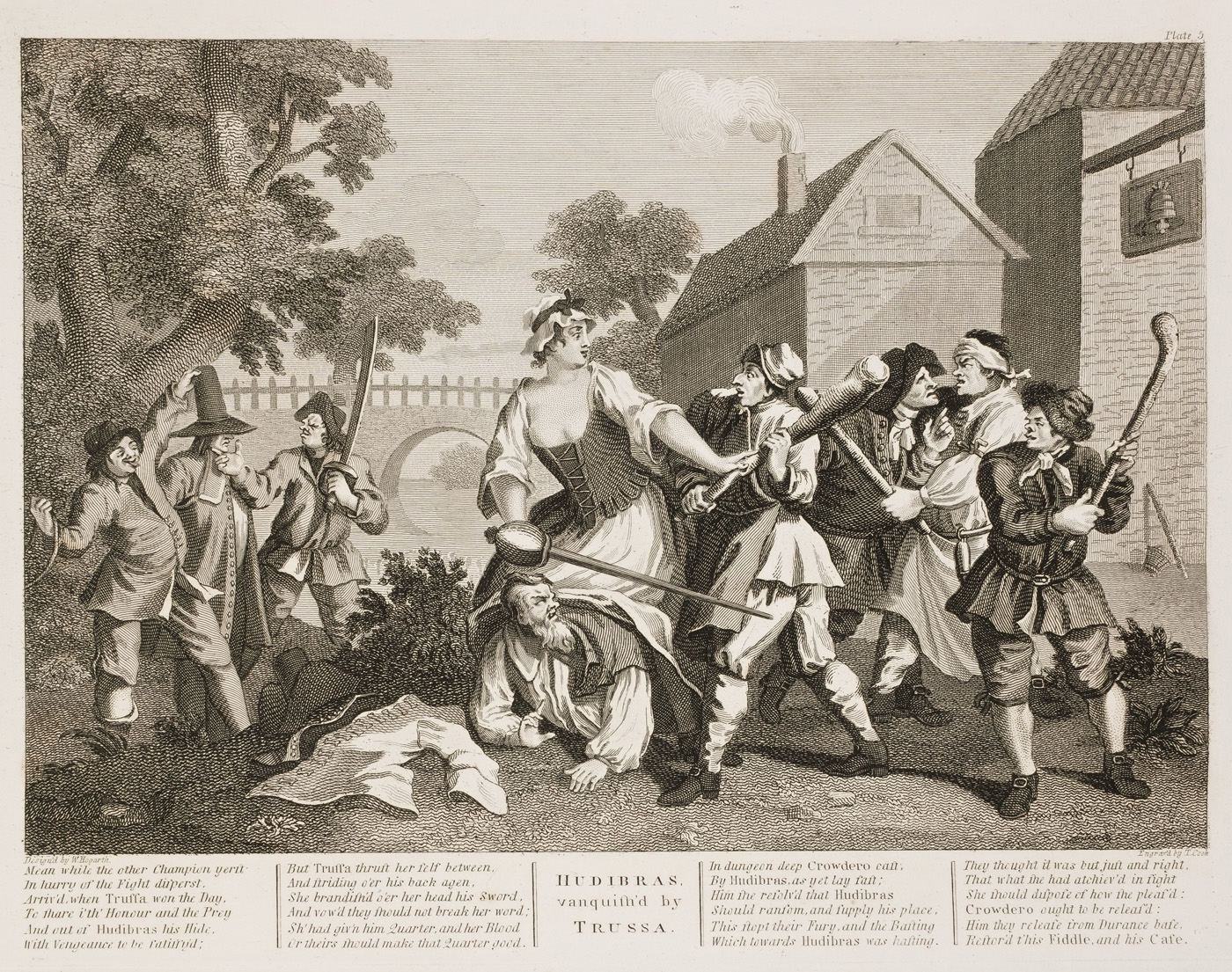 William Hogarth - Hudibras plate 5