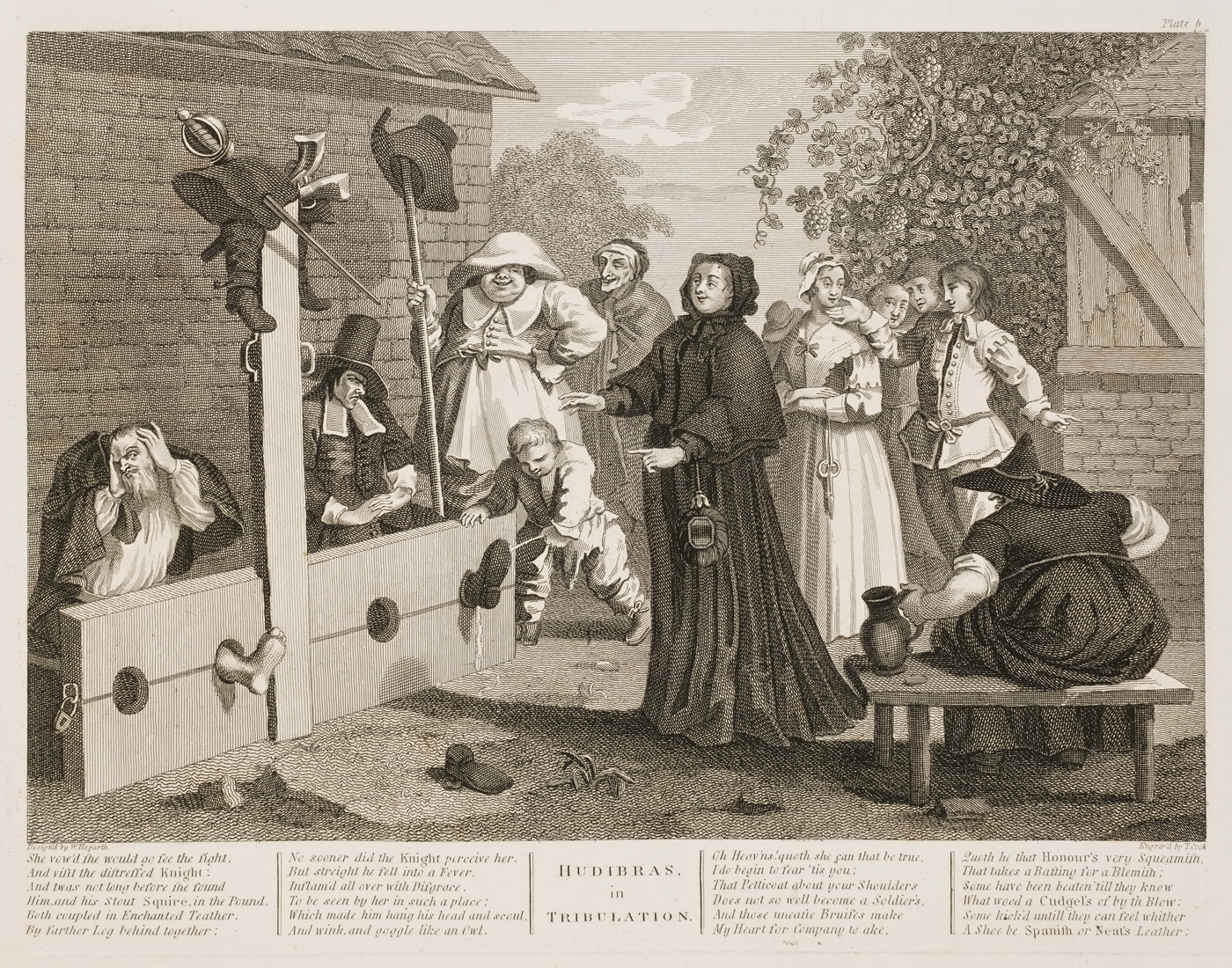 William Hogarth - Hudibras plate 6