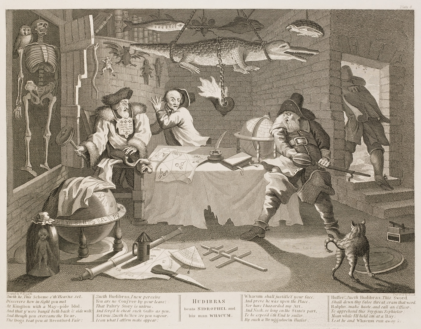 William Hogarth - Hudibras plate 8