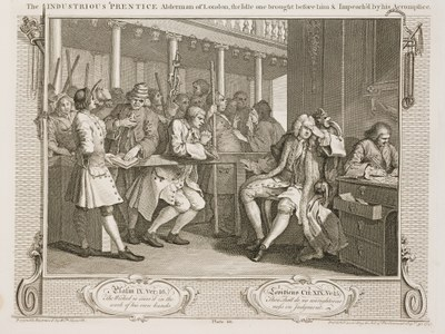 William Hogarth - Industry and Idleness - plate 10