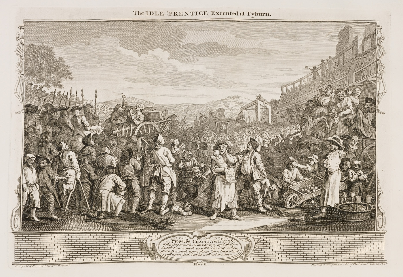 William Hogarth - Industry and Idleness - plate 11