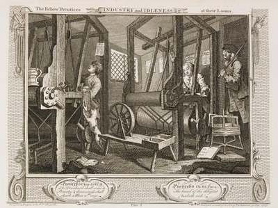 William Hogarth - Industry and Idleness - plate 1