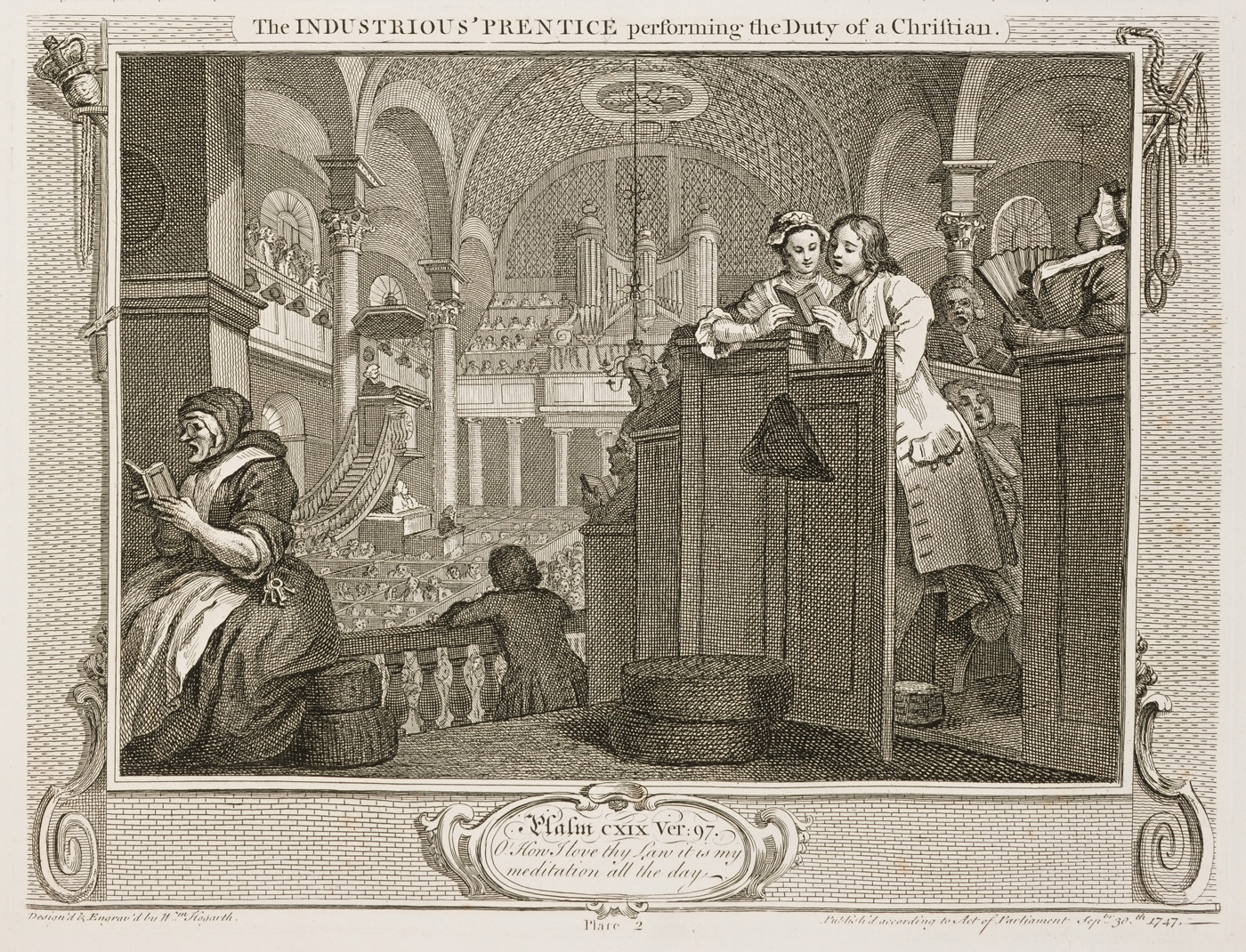 William Hogarth - Industry and Idleness - plate 2
