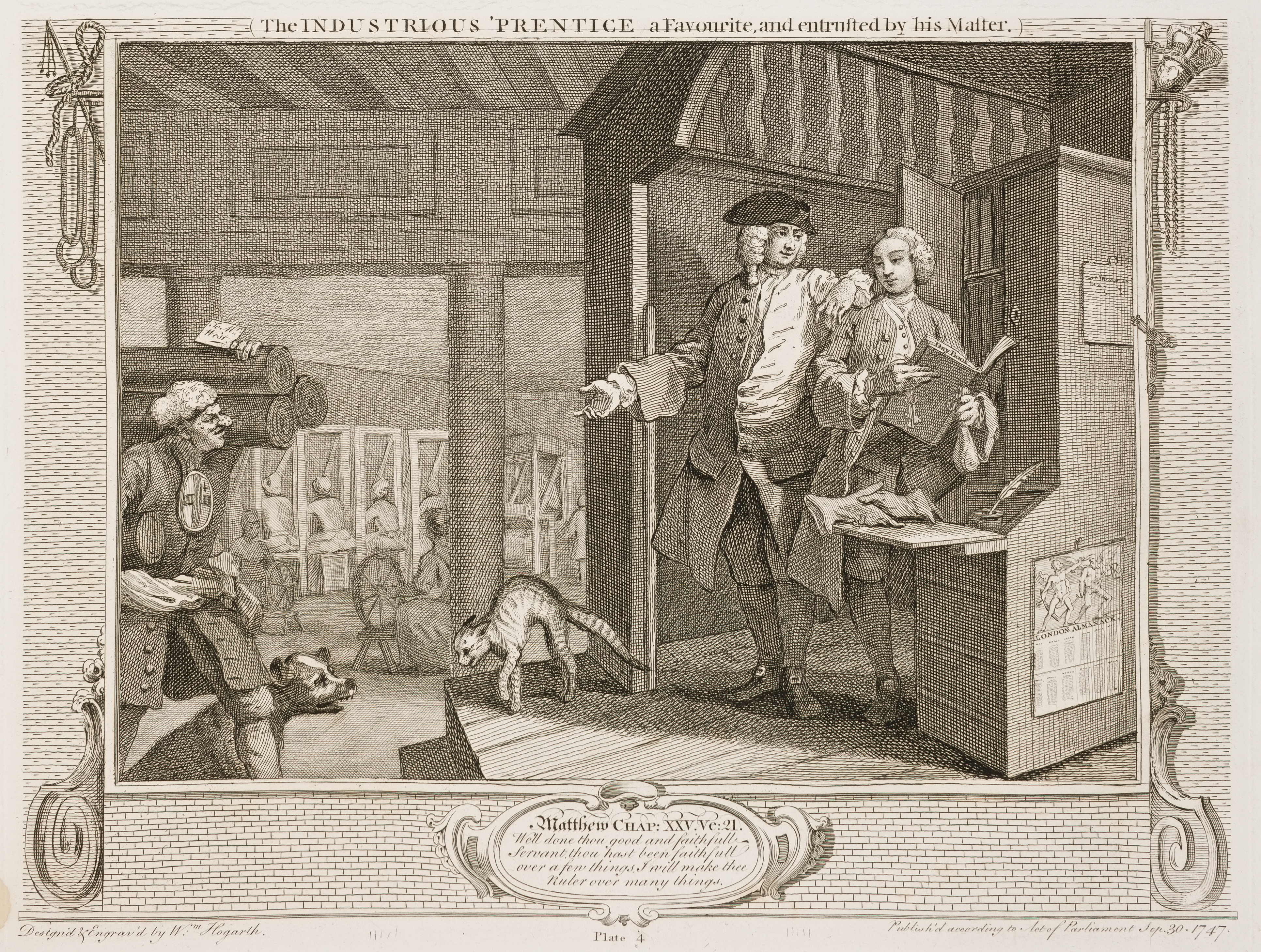 William Hogarth - Industry and Idleness - plate 4