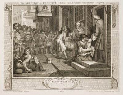 William Hogarth - Industry and Idleness - plate 6