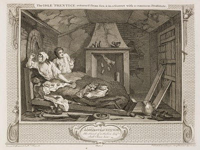 William Hogarth - Industry and Idleness - plate 7