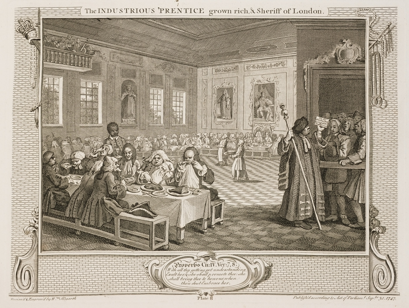 William Hogarth - Industry and Idleness - plate 8