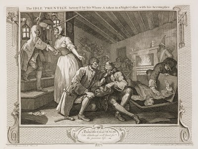 William Hogarth - Industry and Idleness - plate 9
