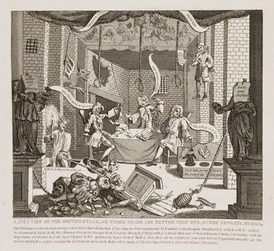 William Hogarth - Just View of the British Stage