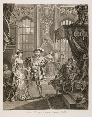 William Hogarth - King Henry VIII and Anna Bulleyn