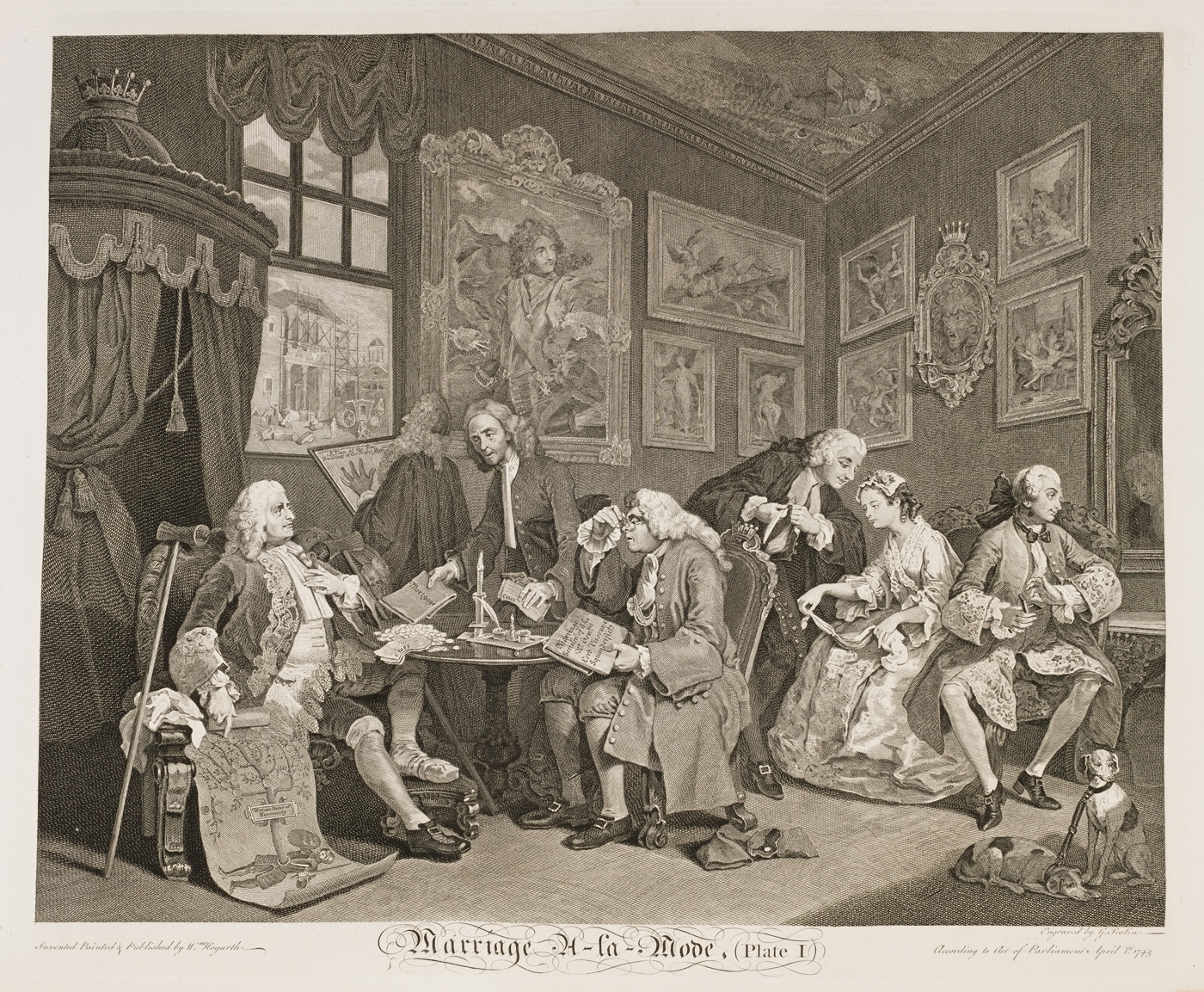 William Hogarth - Marriage à-la-mode plate 1