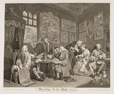William Hogarth - Marriage à-la-mode plate 1