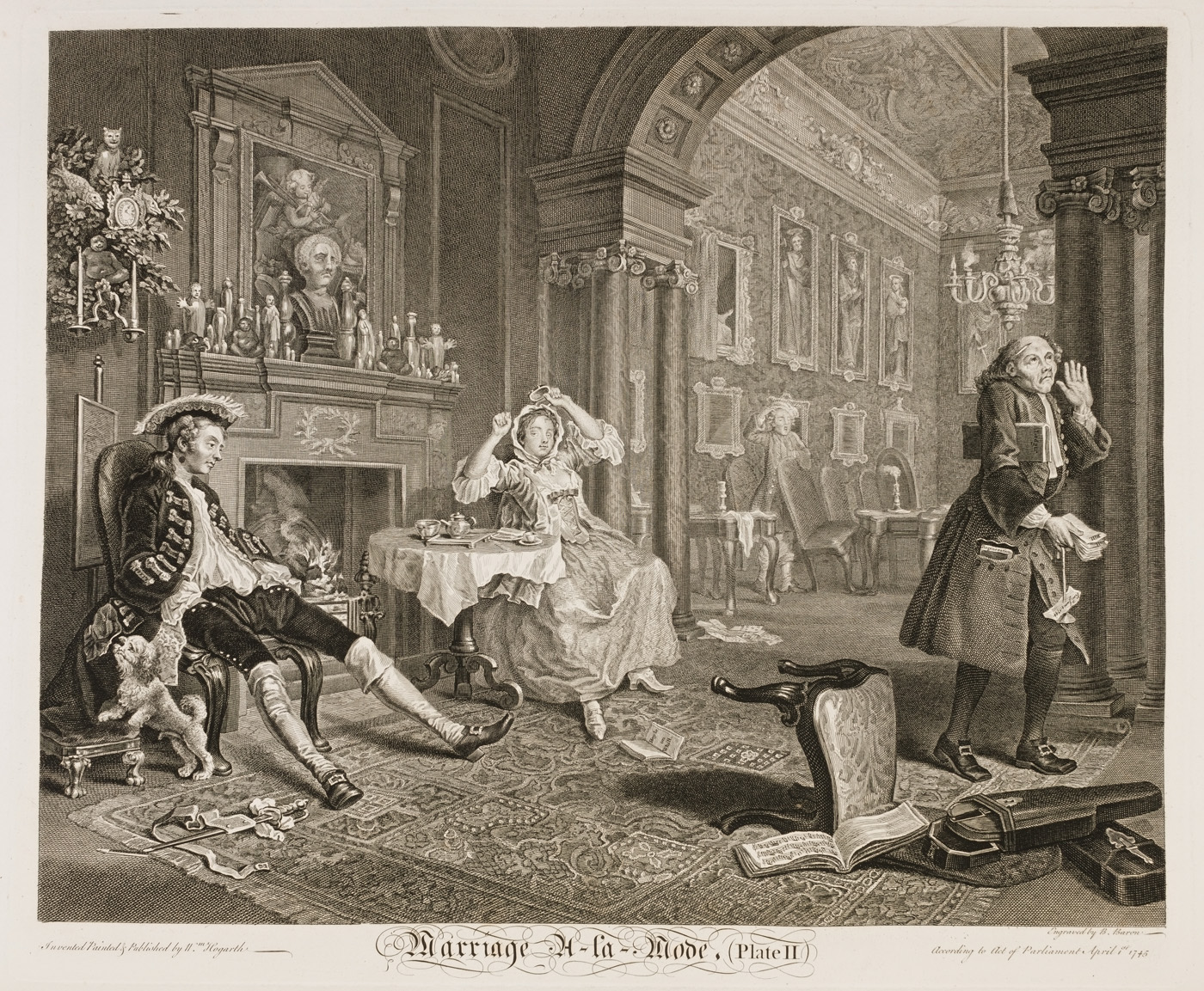 William Hogarth - Marriage à-la-mode plate 2