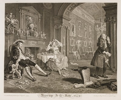 William Hogarth - Marriage à-la-mode plate 2