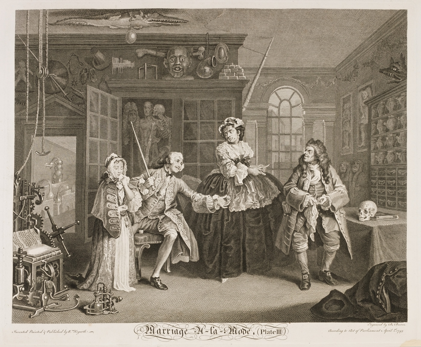 William Hogarth - Marriage à-la-mode plate 3