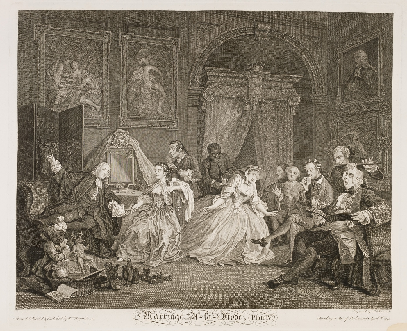William Hogarth - Marriage à-la-mode plate 4
