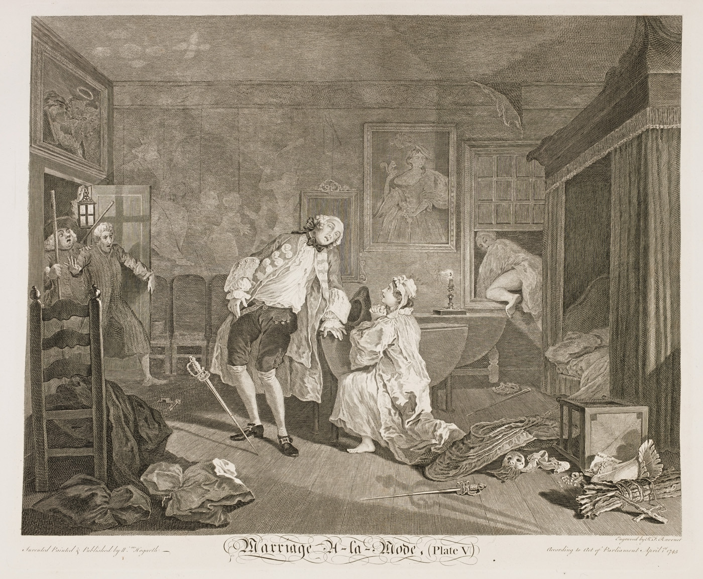 William Hogarth - Marriage à-la-mode plate 5