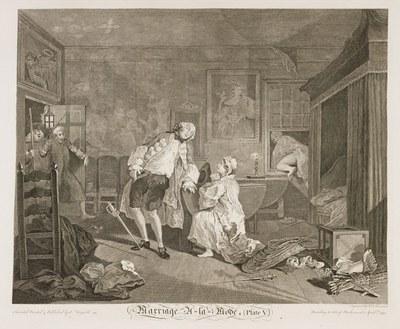 William Hogarth - Marriage à-la-mode plate 5