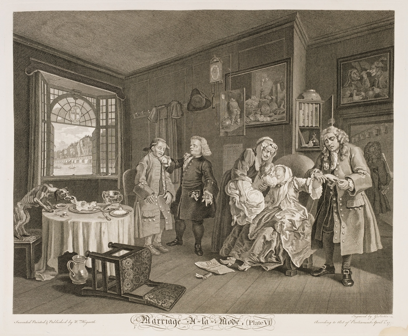 William Hogarth - Marriage à-la-mode plate 6