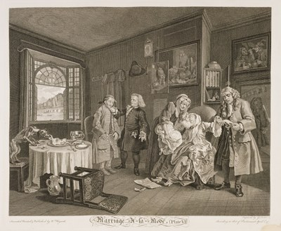 William Hogarth - Marriage à-la-mode plate 6