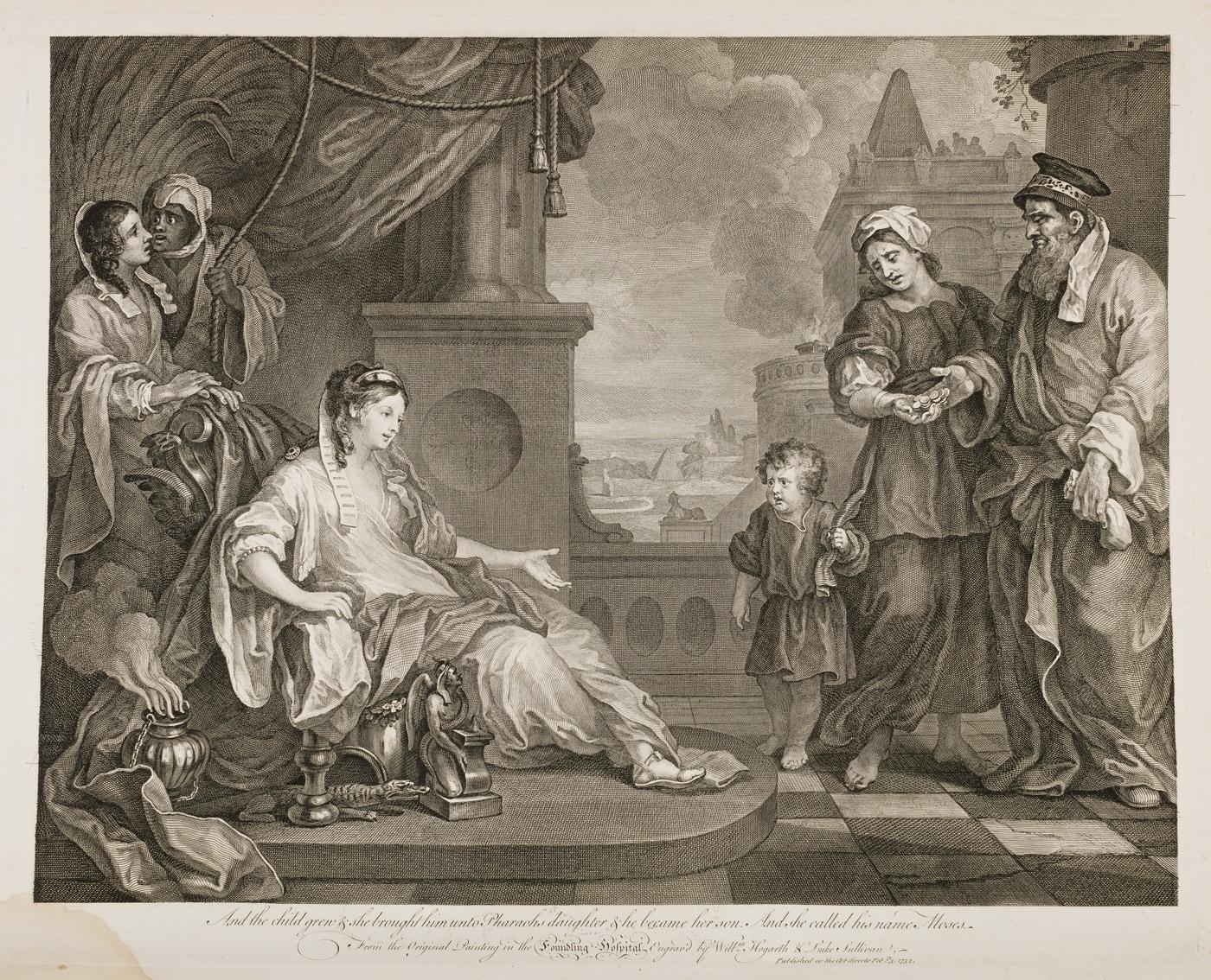 William Hogarth - Moses Before Pharaoh's Daughter