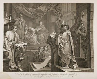 William Hogarth - Paul Before Felix III