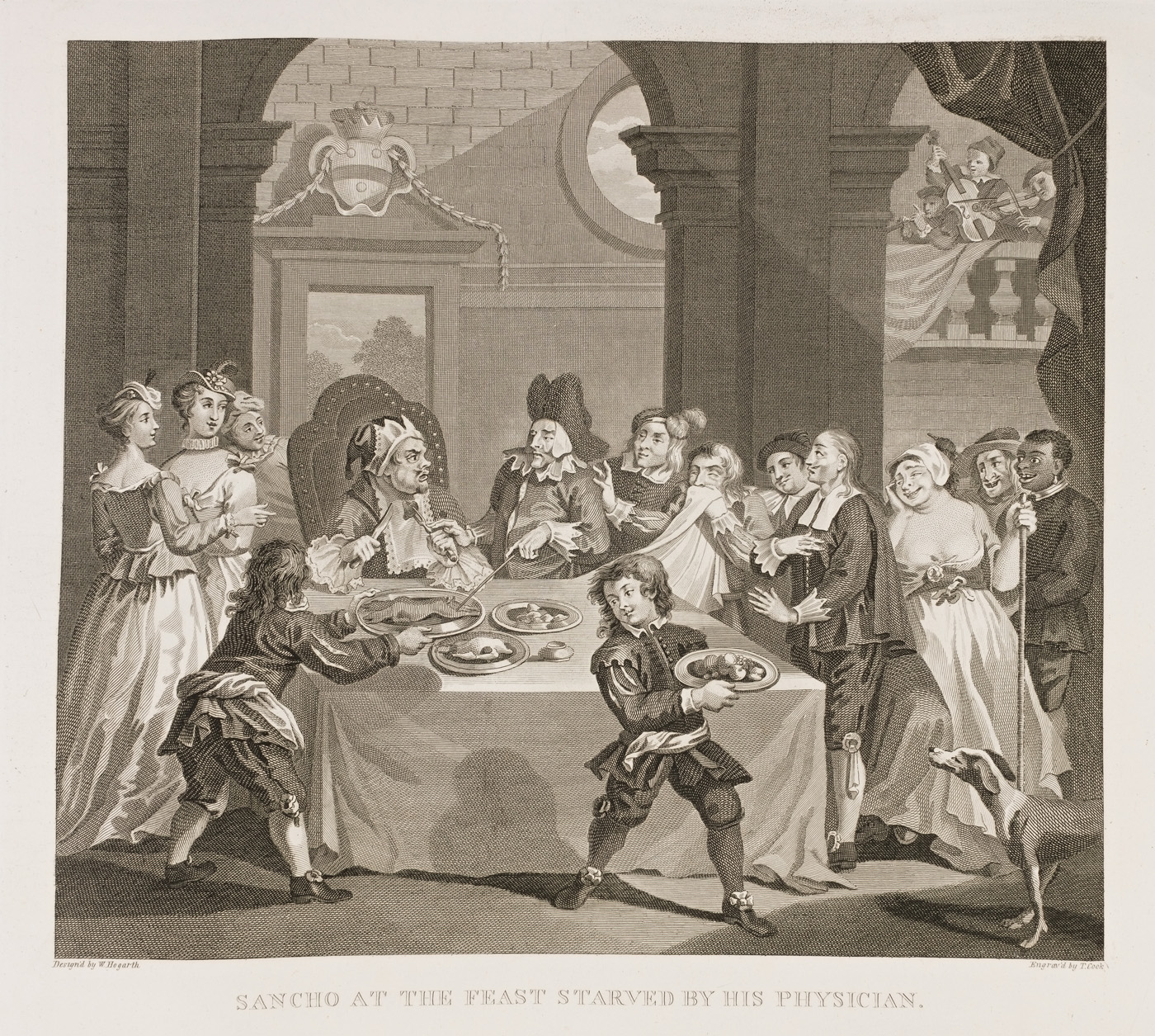 William Hogarth - Sancho at a Magnificent Feast