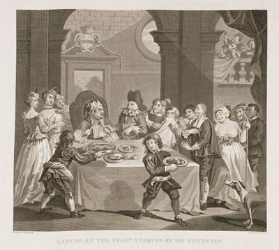 William Hogarth - Sancho at a Magnificent Feast