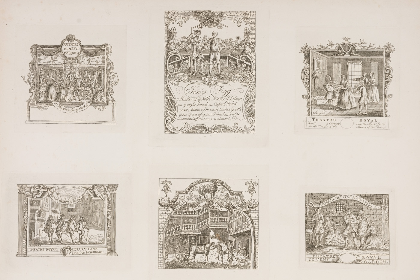 William Hogarth - Six Tickets