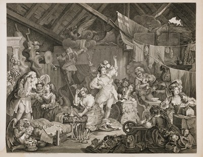 William Hogarth - Strolling Actresses Dressing