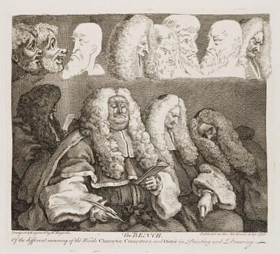 William Hogarth - The Bench