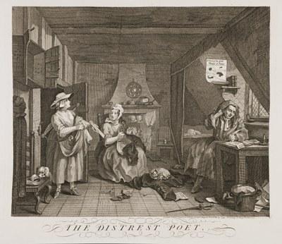 William Hogarth - The Distressed Poet