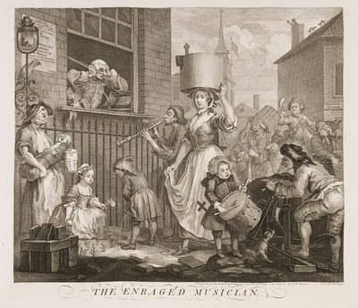 William Hogarth - The enraged musician