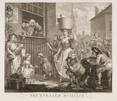 William Hogarth - The enraged musician