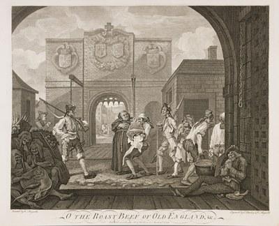 William Hogarth - The Gate of Calais