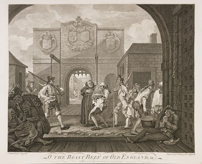William Hogarth - The Gate of Calais