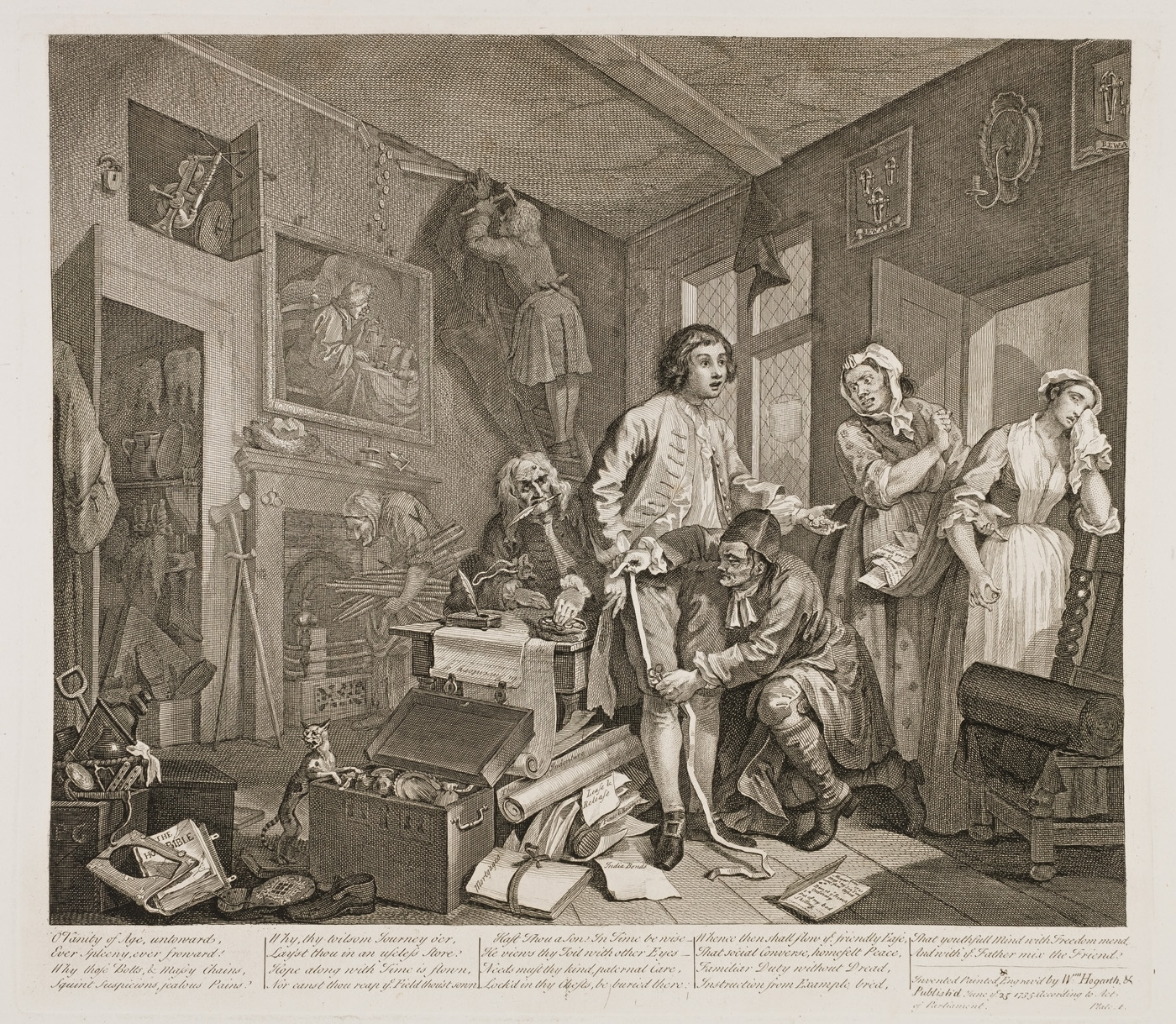 William Hogarth - The Rake's Progress plate 1