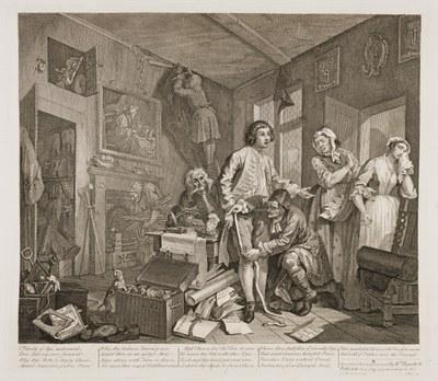 William Hogarth - The Rake's Progress plate 1