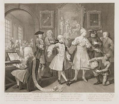 William Hogarth - The Rake's Progress plate 2
