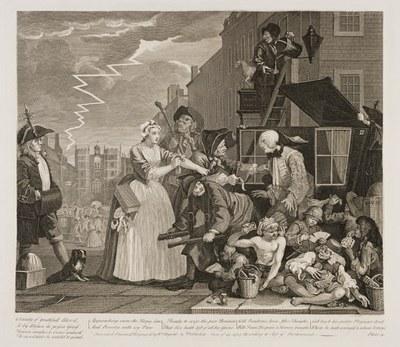 William Hogarth - The Rake's Progress plate 4