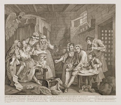 William Hogarth - The Rake's Progress plate 7