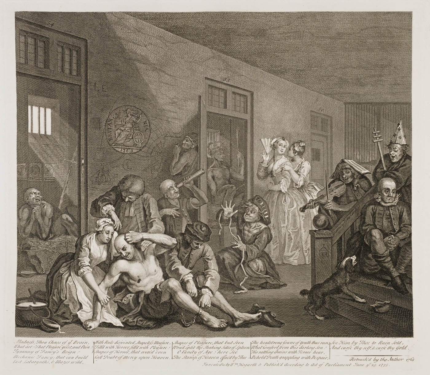 William Hogarth - The Rake's Progress plate 8