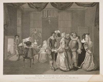 William Hogarth - The Royal Masquerade