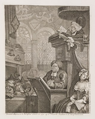 William Hogarth - The Sleeping Congregation