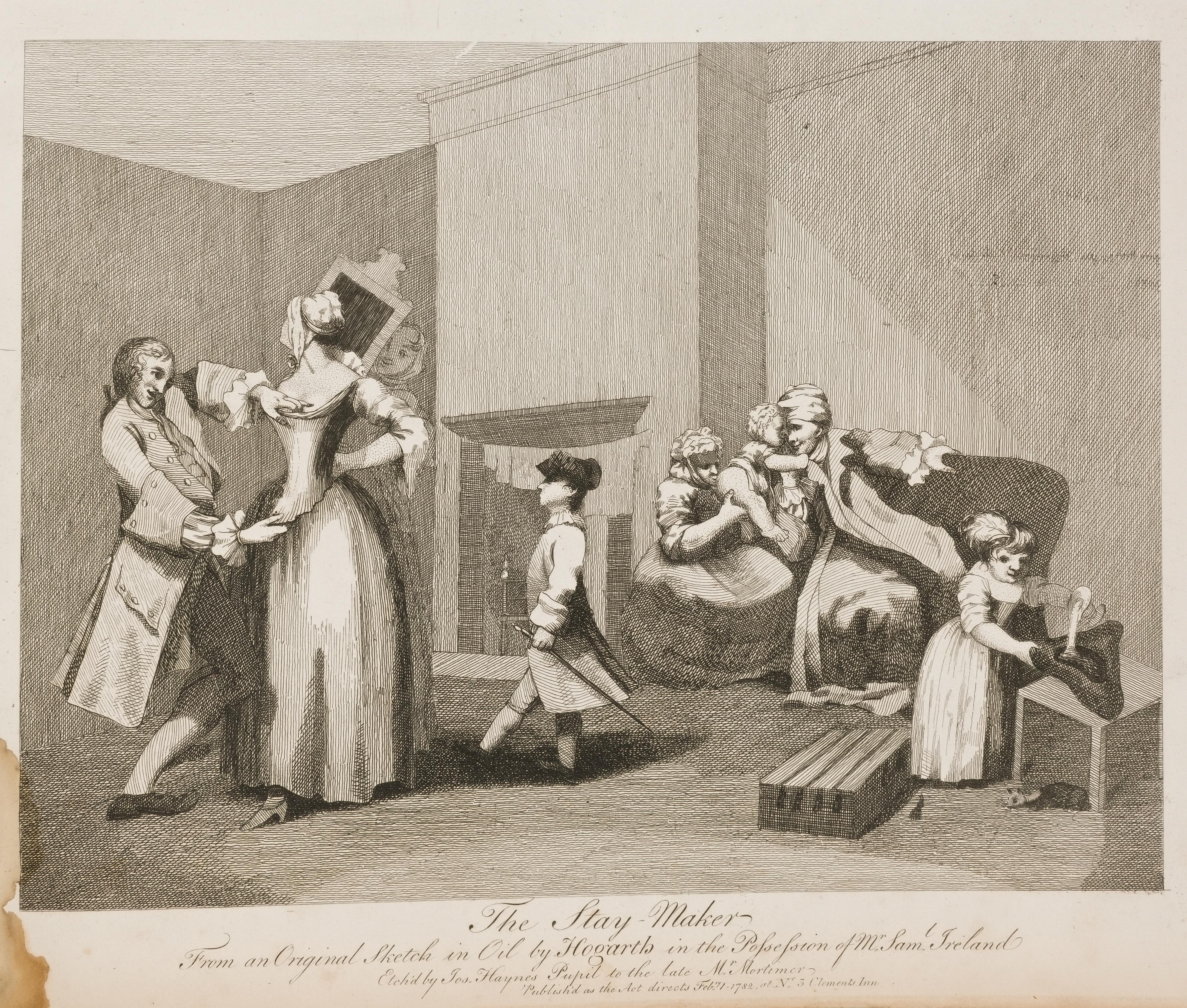 William Hogarth - The Stay Maker