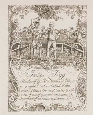 William Hogarth - Thomas Figg, the noted Prize-fighter