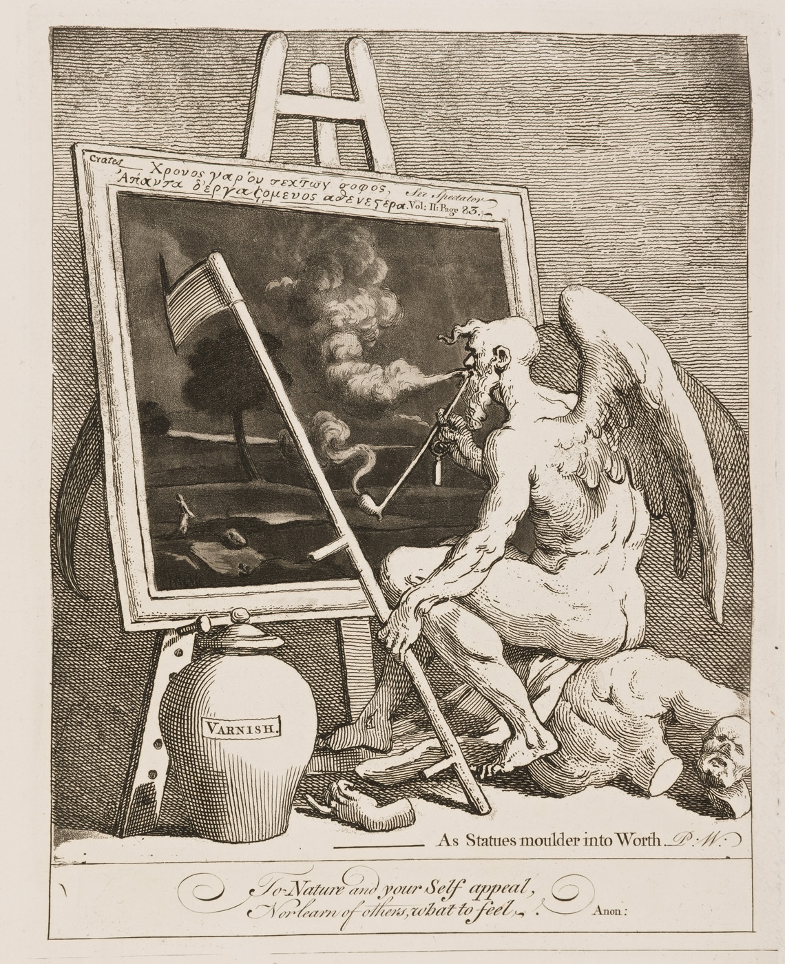 William Hogarth - Time Smoking a Picture