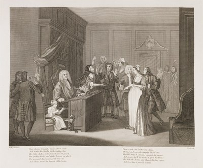 William Hogarth - Woman Swearing a Child