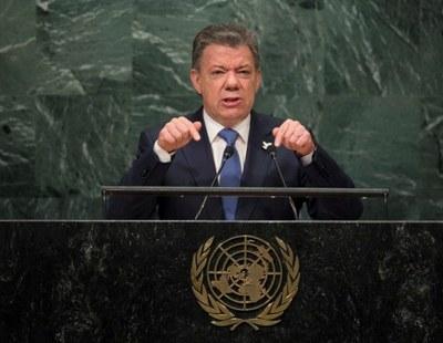 Juan Manuel Santos por Agencia de Noticias Andes el 21/09/17. Flickr, Licence Creative Commons