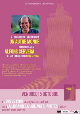Affiche de la rencontre avec Alfons Cervera